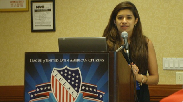 Jennifer Bernal, public policy analyst for Google at LULAC 2014 in New York City on July 9, 2014.
